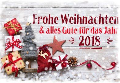 FROHE WEIHNACHTEN und ein gesundes NEUES JAHR 2018